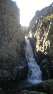 Cascada del Purgatorio con El Caminante y su Sombra